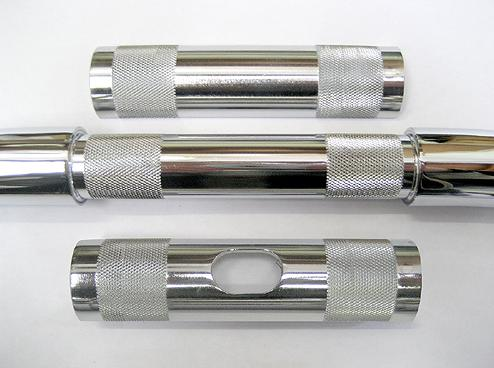 HANDLEBAR ADAPTER SLEEVES CHROME