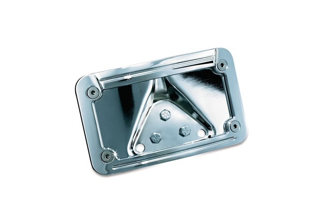 NUMBER PLATE LIGHTED CHROME