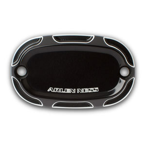 BEVELED REAR MASTER CYLINDER COVER BLACK