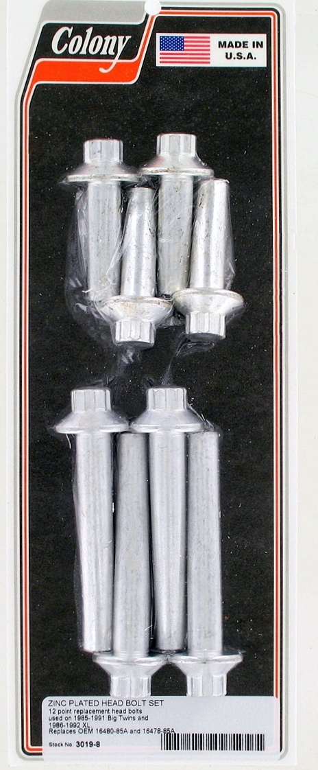 HEAD BOLTS SET ZINC
