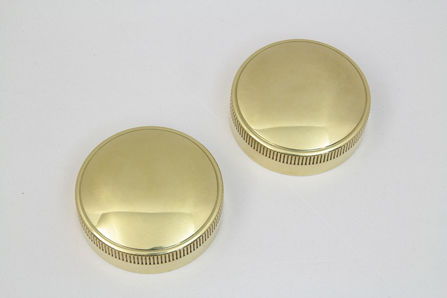 REPLICA EATON STYLE FUEL CAP SET VENTED BRASS