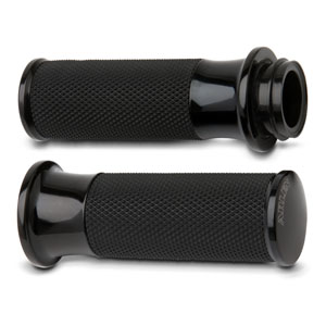 THROTTLE GRIPS SMOOTH BLACK