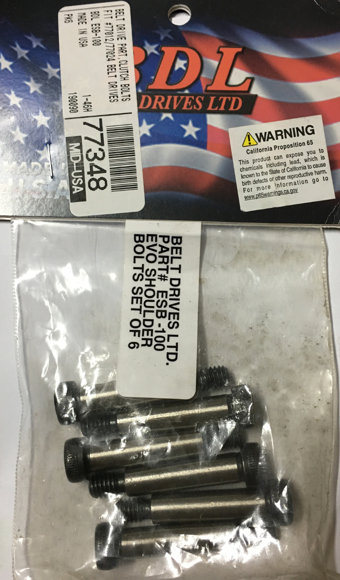 BELT DRIVE CLUTCH BOLTS