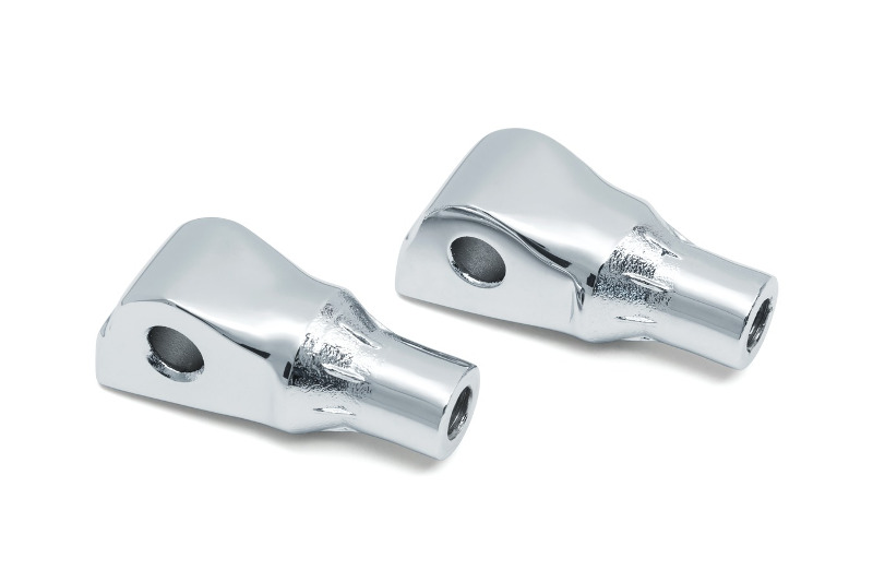 TAPERED PASSENGER PEG ADAPTERS CHROME