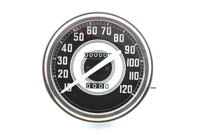 SPEEDOMETER WITH 2:1 RATIO & WHITE NEEDLE EARLY