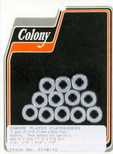 FLAT WASHER CHROME PLATED