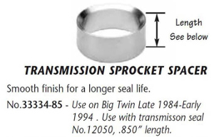 TRANSMISSION SPROCKET SPACER