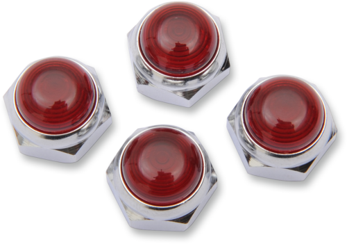 ROCKER SHAFT NUTS RED