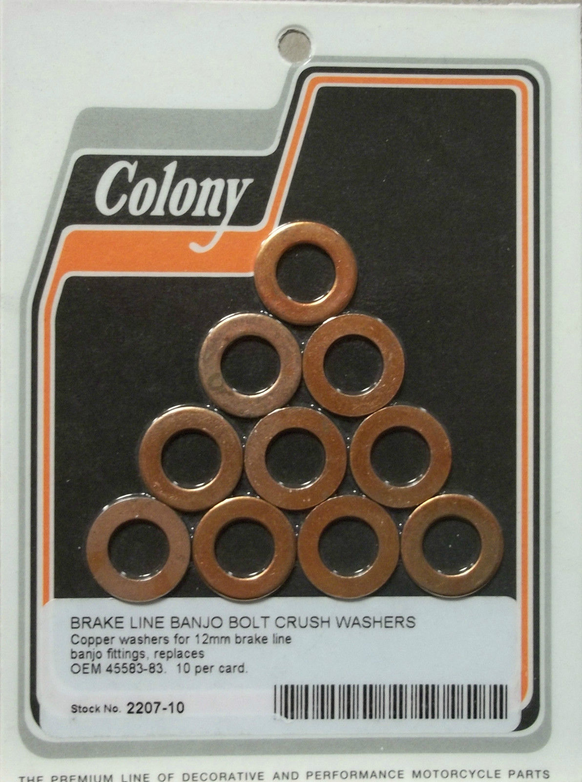 BRAKE LINE BANJO BOLT CRUSH WASHERS