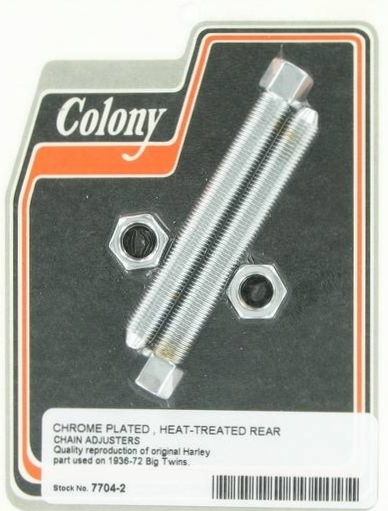 REAR CHAIN ADJUSTERS CHROME PLATED