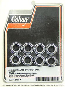 CYLINDER BASE NUTS CHROME