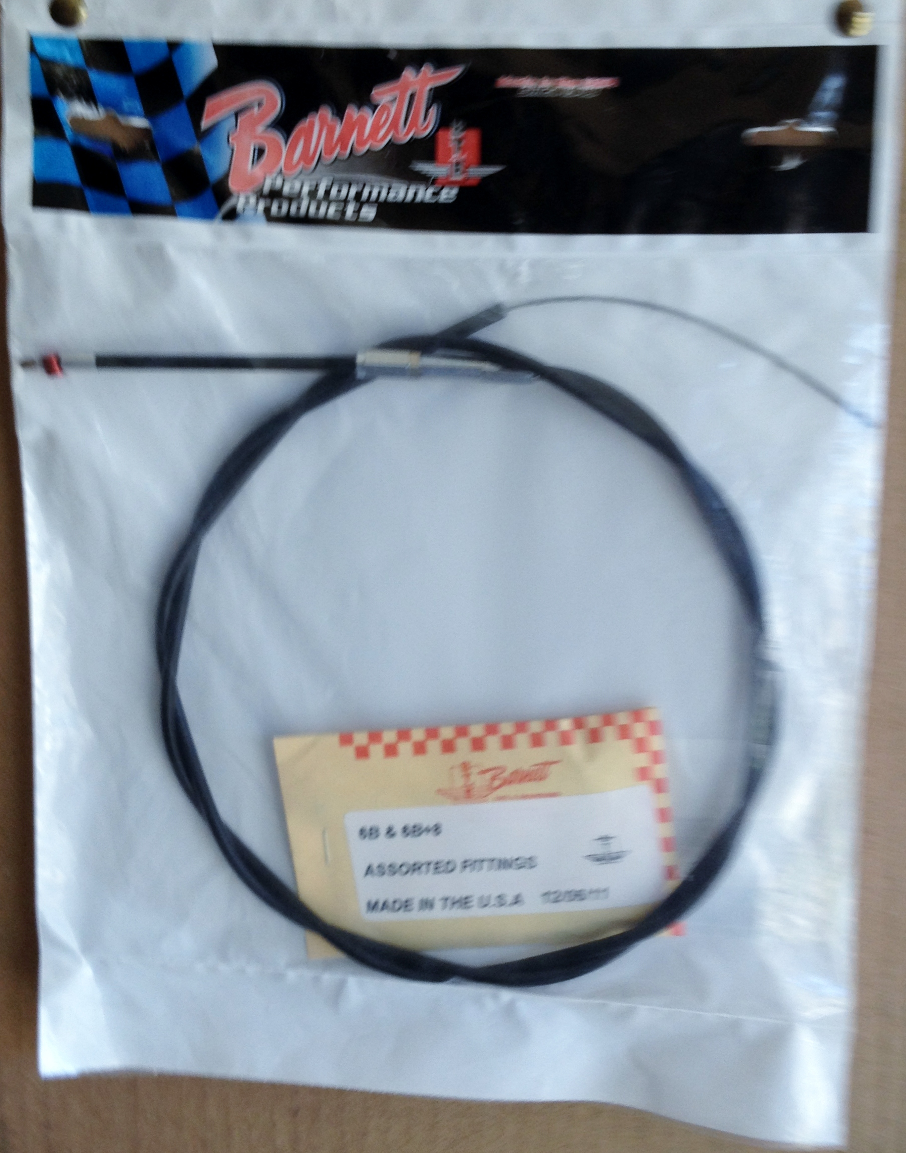 THROTTLE CABLE STINGER BLACK 8