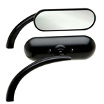 MINI OVAL MICRO MIRROR BLACK LEFT