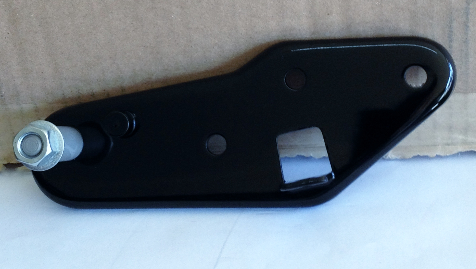 BRAKE PEDAL BACKING PLATE BLACK
